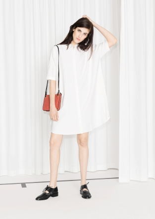 Robe chemise oversized blanche 75