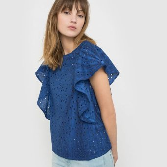 blouse broderie anglaise Soft Grey