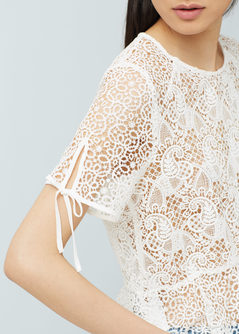 blouse peplum mango 3