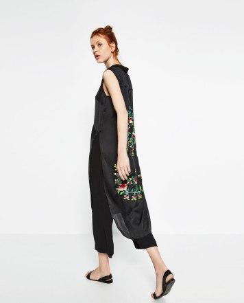Chemise longue Zara 49.95€