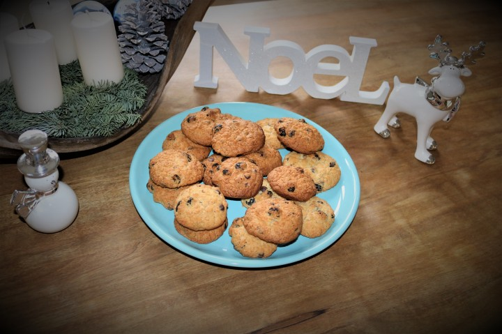 Les Cookies parfaits pour Noël: Cookies auxCranberries.