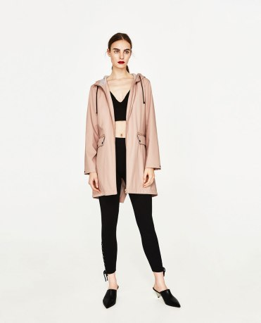Parka déperlante Zara en différents coloris